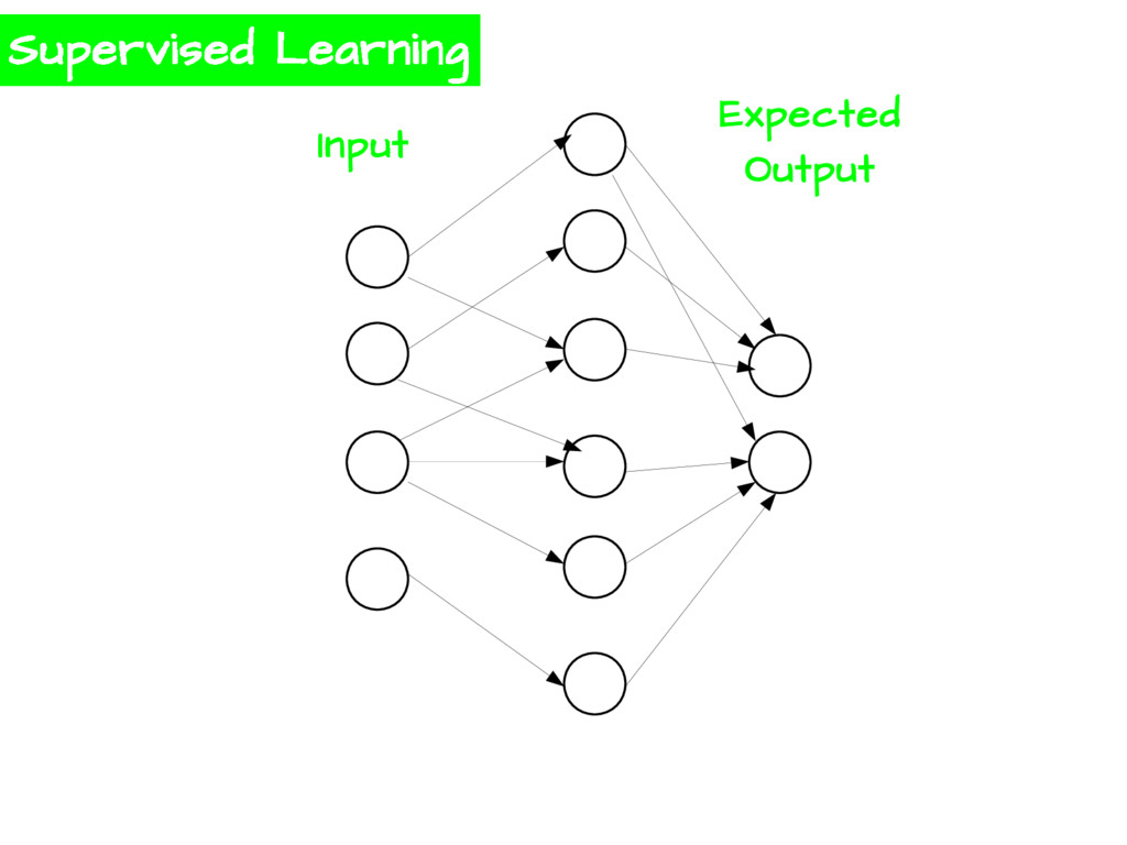 Supervised Learning Input Expected Output