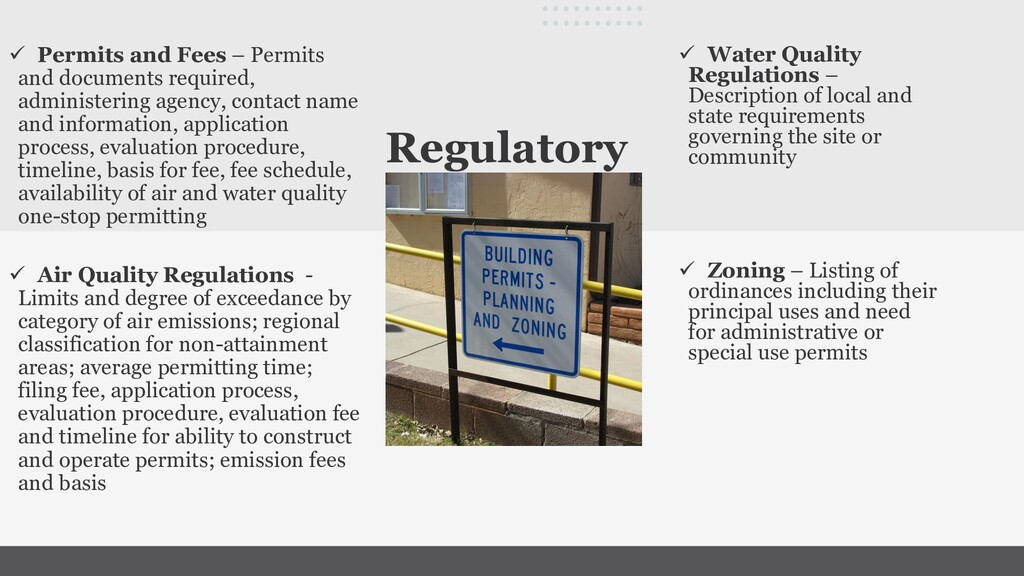 Regulatory ✓ Water Quality Regulations – Descri...