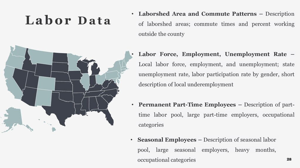 28 • Laborshed Area and Commute Patterns – Desc...