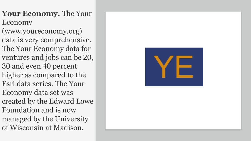 39 Your Economy. The Your Economy (www.yourecon...
