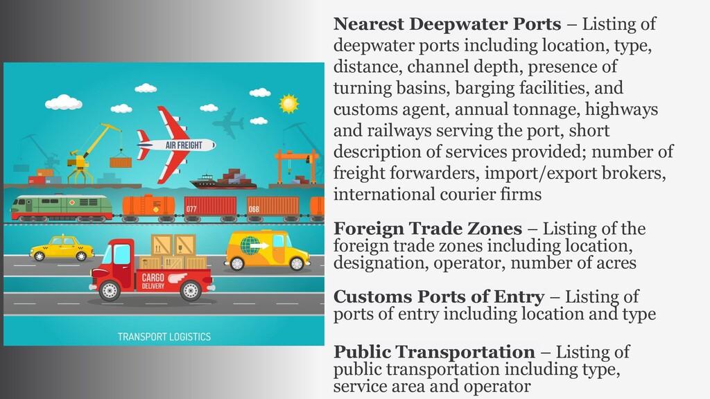 Nearest Deepwater Ports – Listing of deepwater ...