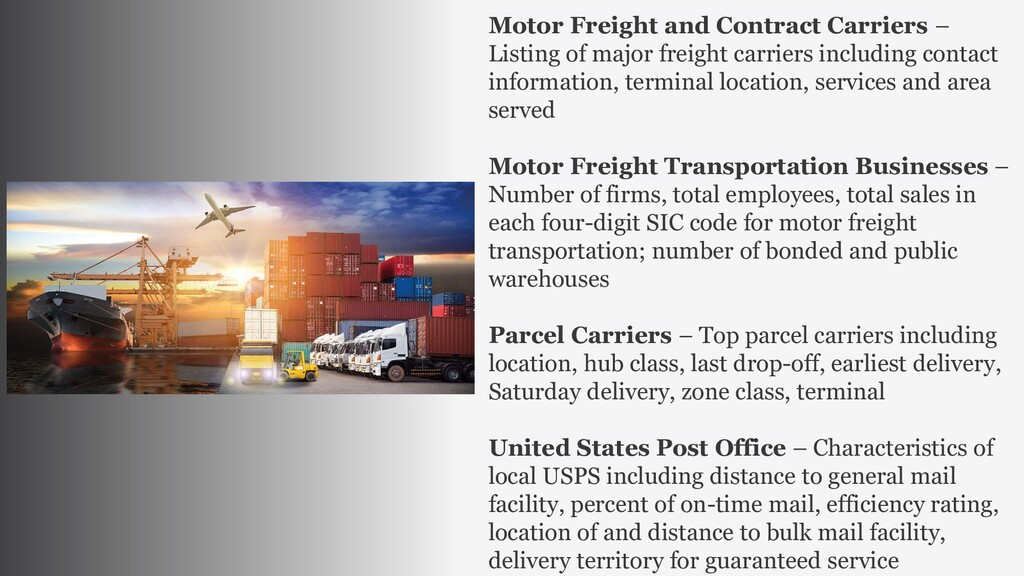 Motor Freight and Contract Carriers – Listing o...