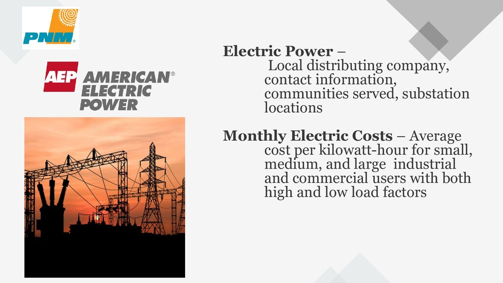 68 Electric Power – Local distributing company,...