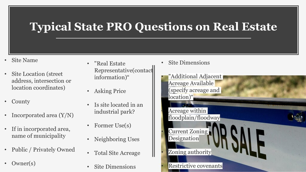10 Typical State PRO Questions on Real Estate •...