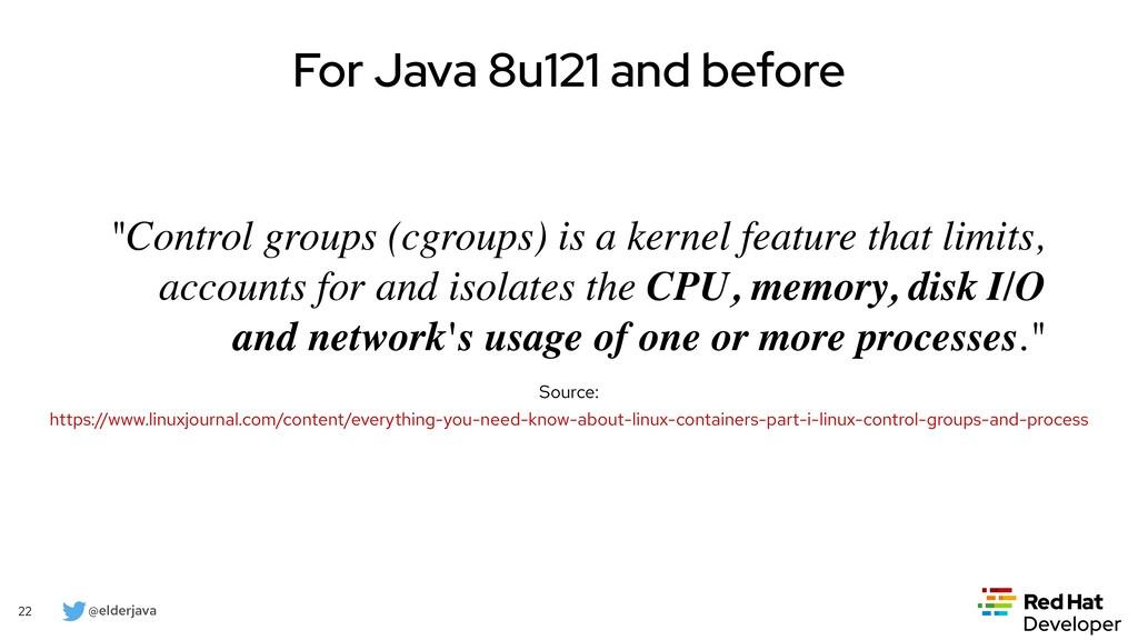 @elderjava 22 For Java 8u131 and Java 9 • Paral...