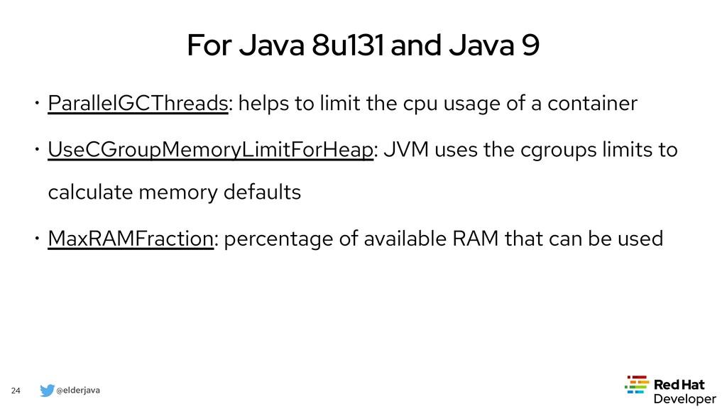 @elderjava 24 For Java 11 • -XshowSettings (Con...
