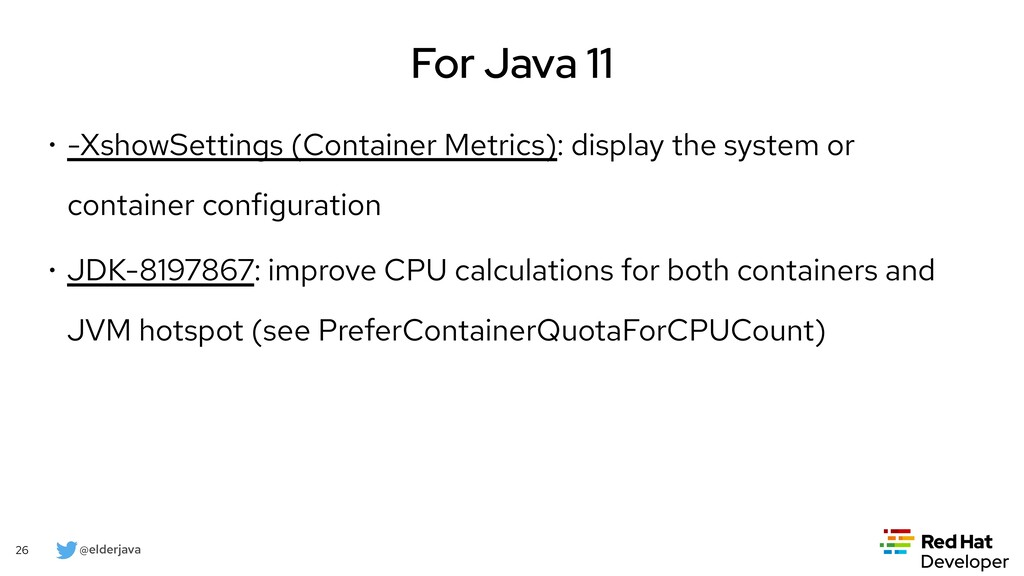 @elderjava 26 For Java 14 • JFR Event Streaming...