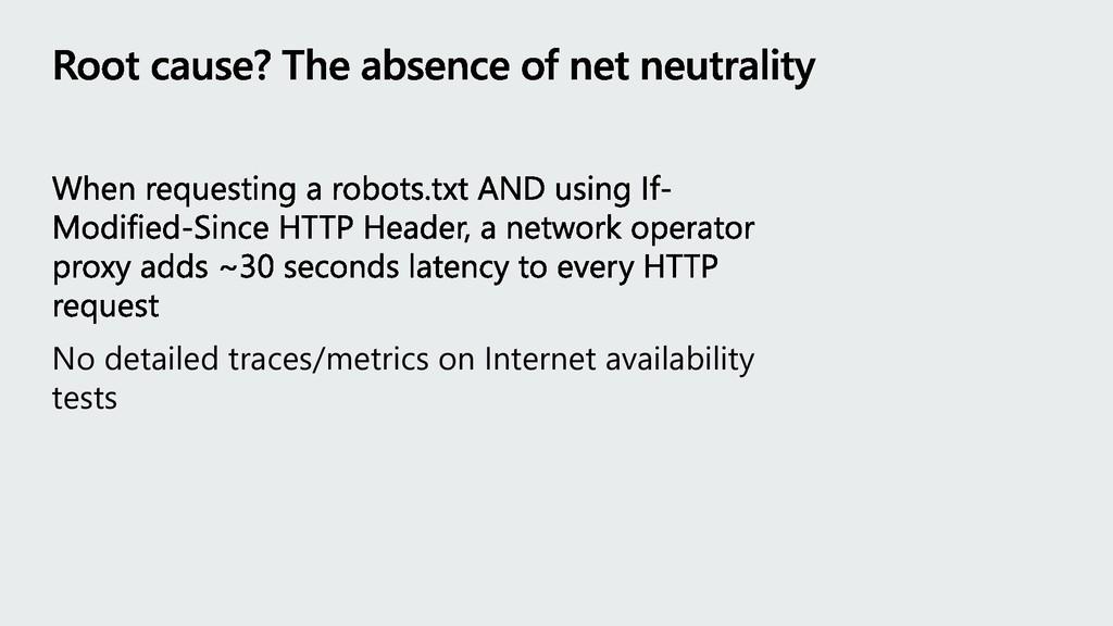 No detailed traces/metrics on Internet availabi...
