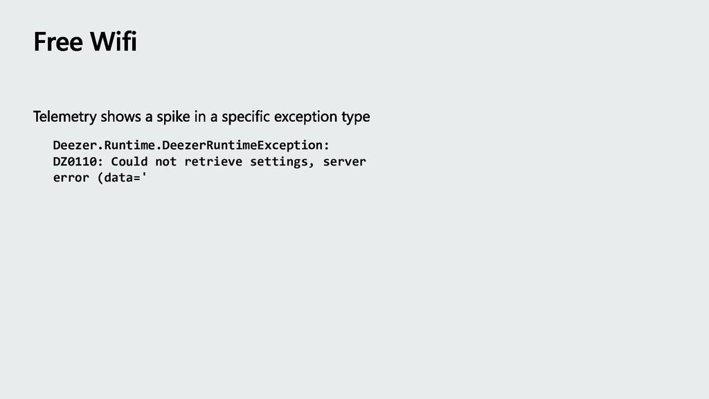 Deezer.Runtime.DeezerRuntimeException: DZ0110: ...