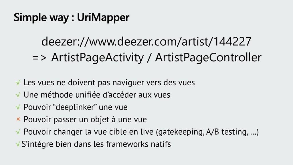 deezer://www.deezer.com/artist/144227 => Artist...