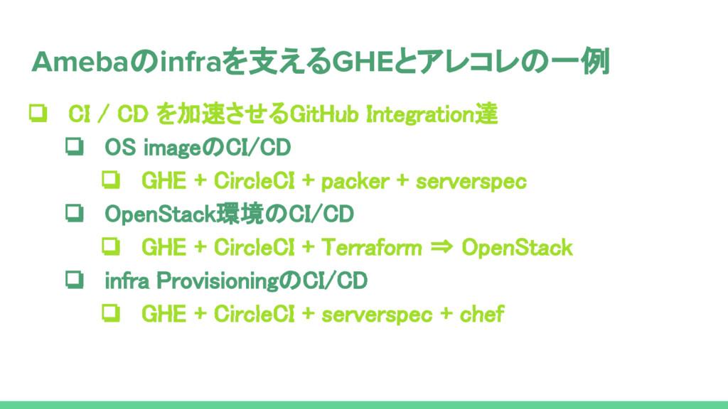❏ CI / CD を加速させるGitHub Integration達 ❏ OS imageの...