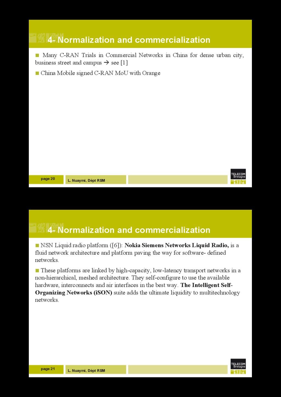 L. Nuaymi, Dépt RSM 4- Normalization and commer...