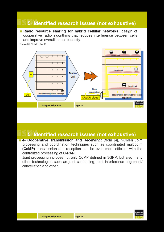L. Nuaymi, Dépt RSM page 24 5- Identified resea...