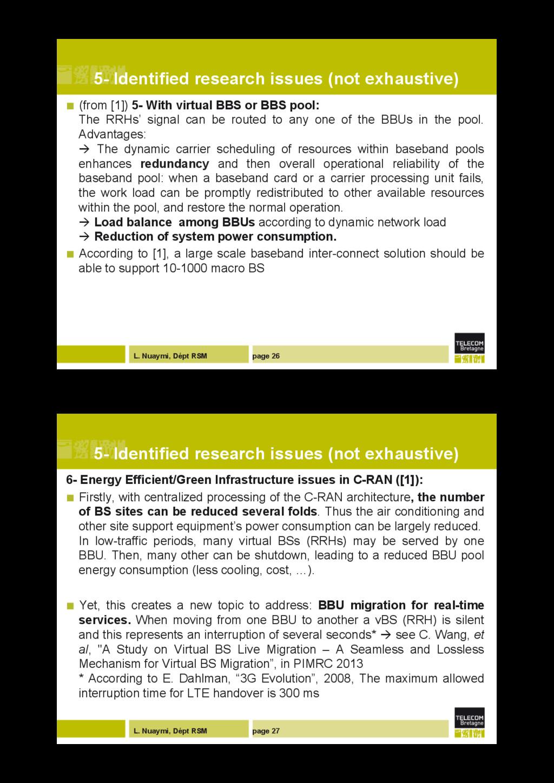 L. Nuaymi, Dépt RSM page 26 5- Identified resea...