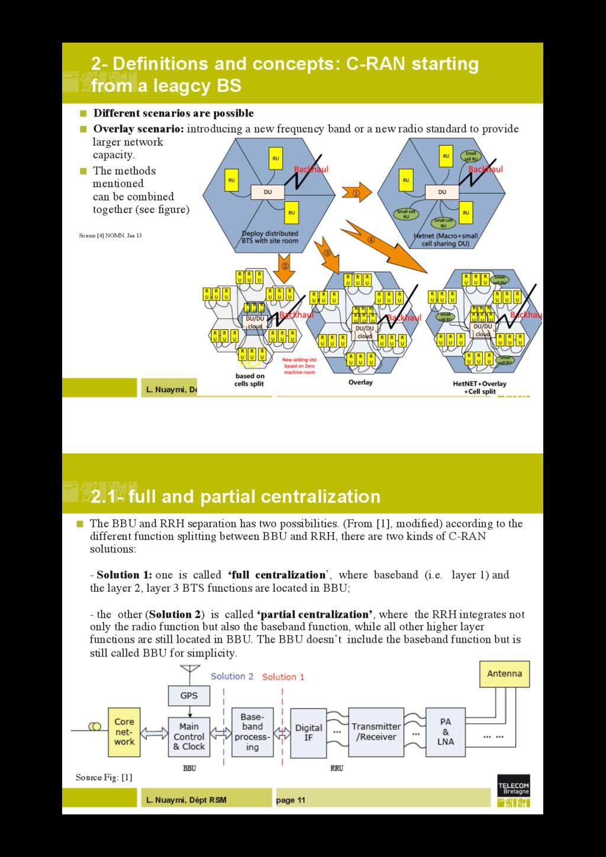 L. Nuaymi, Dépt RSM page 10 2- Definitions and ...