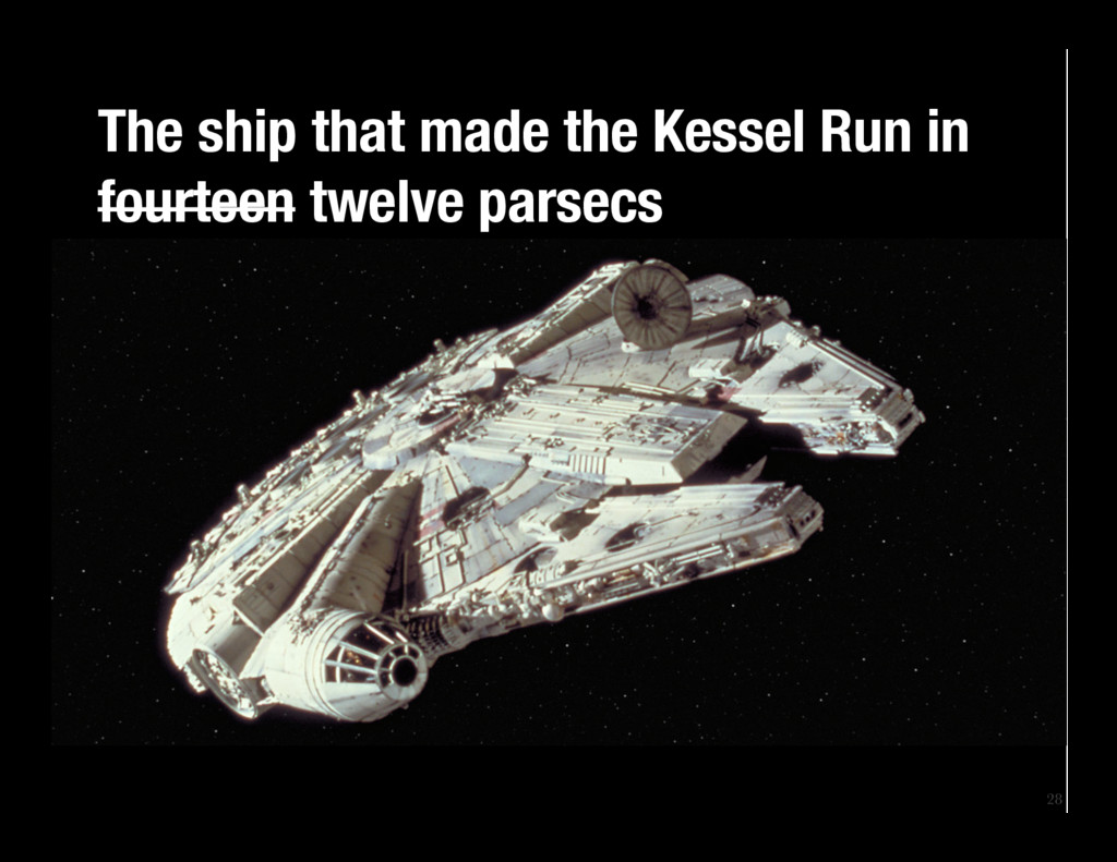 28 The ship that made the Kessel Run in fourte...