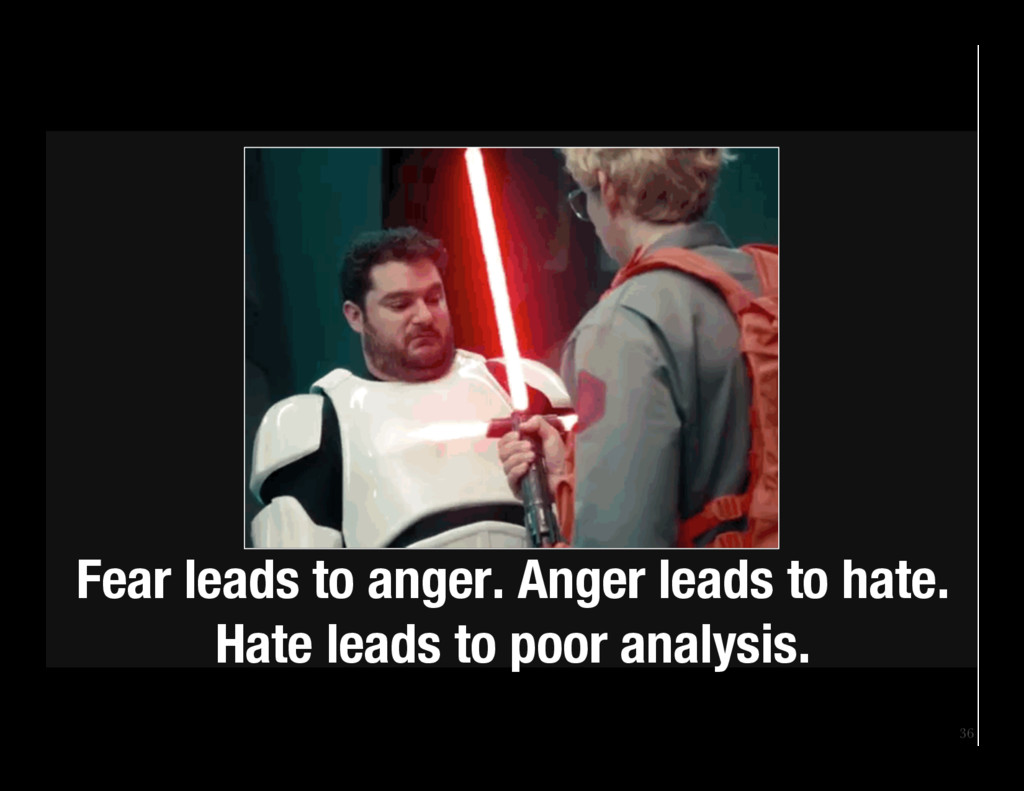 36 Fear leads to anger. Anger leads to hate. H...
