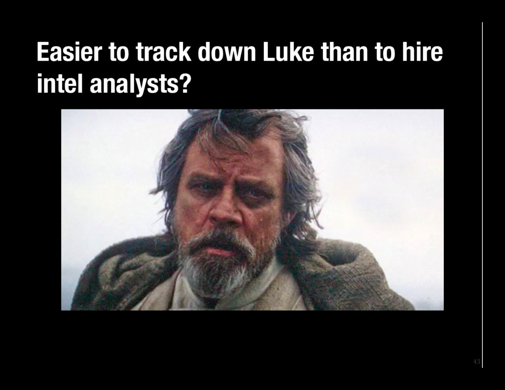 43 Easier to track down Luke than to hire inte...