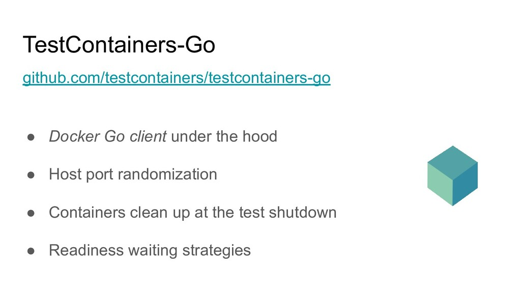 TestContainers-Go github.com/testcontainers/tes...