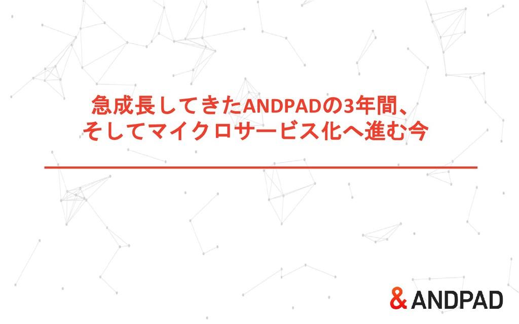 急成長してきたANDPADの3年間、 そしてマイクロサービス化へ進む今