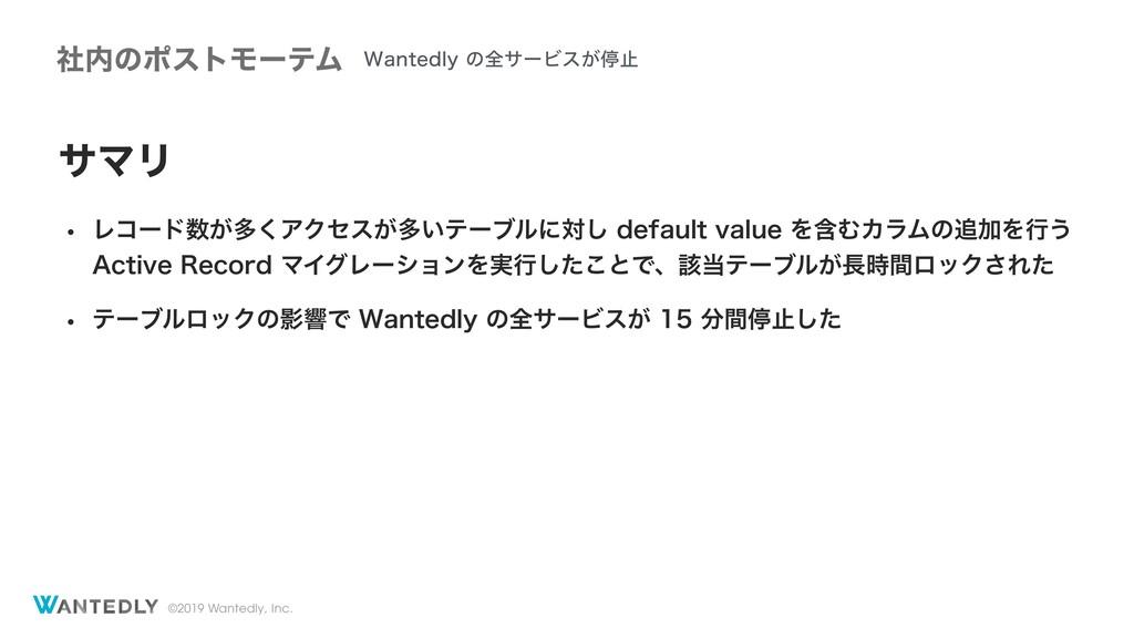 ©2019 Wantedly, Inc. αϚϦ w Ϩίʔυ͕ଟ͘ΞΫηε͕ଟ͍ςʔϒϧʹ...