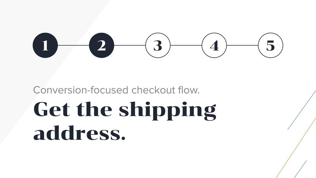 1 5 2 3 4 Conversion-focused checkout flow. Get ...