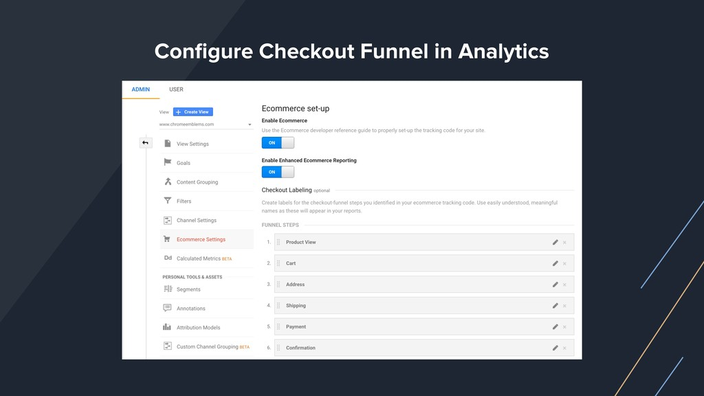 Configure Checkout Funnel in Analytics