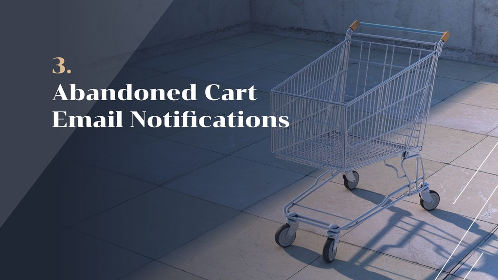 3. Abandoned Cart  Email Notifications