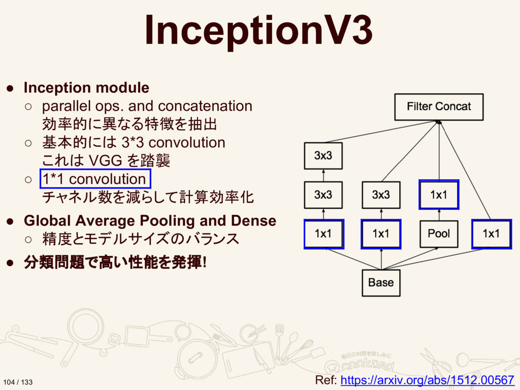 InceptionV3 ● Inception module ○ parallel ops. ...