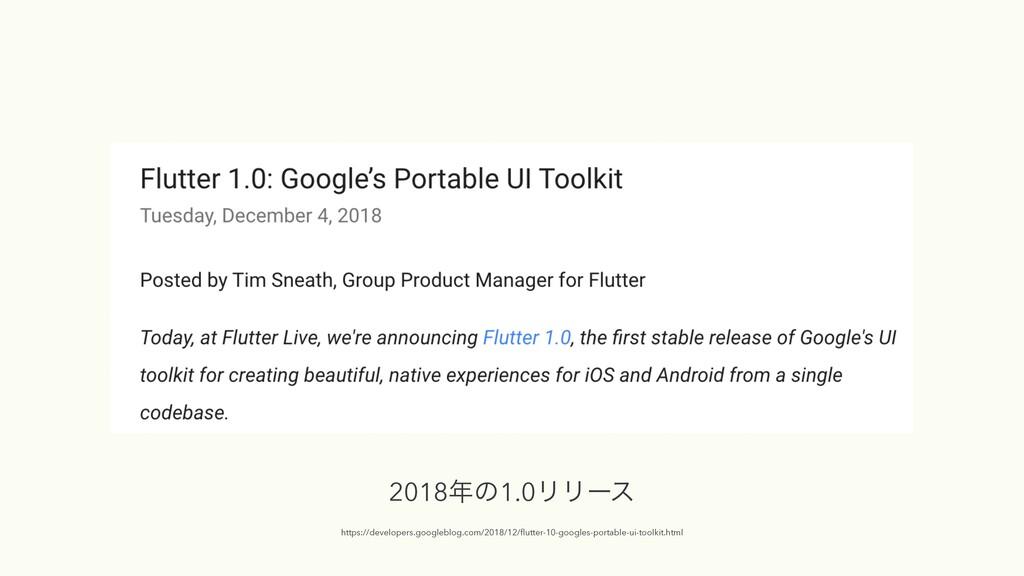 2018ͷ1.0ϦϦʔε  https://developers.googleblog.c...