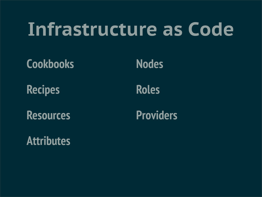 Infrastructure as Code Cookbooks Recipes Resour...