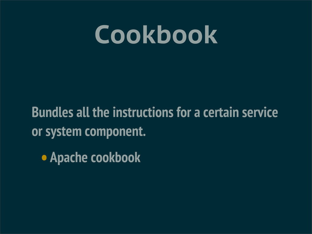 Cookbook Bundles all the instructions for a cer...