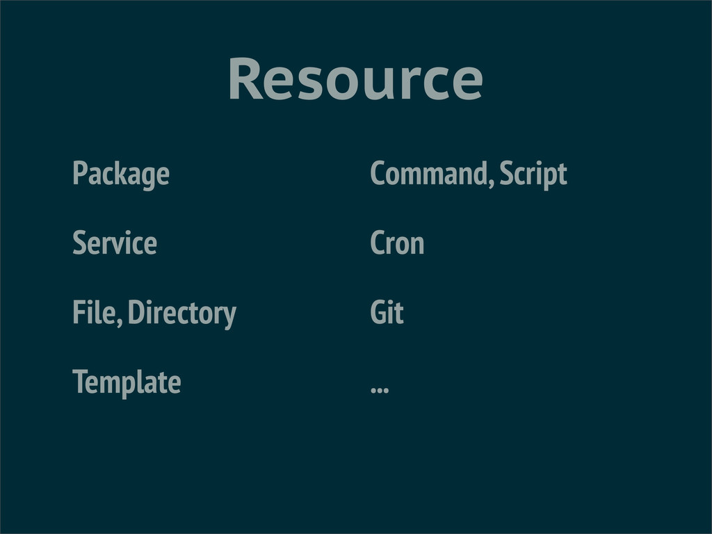 Resource Package Service File, Directory Templa...