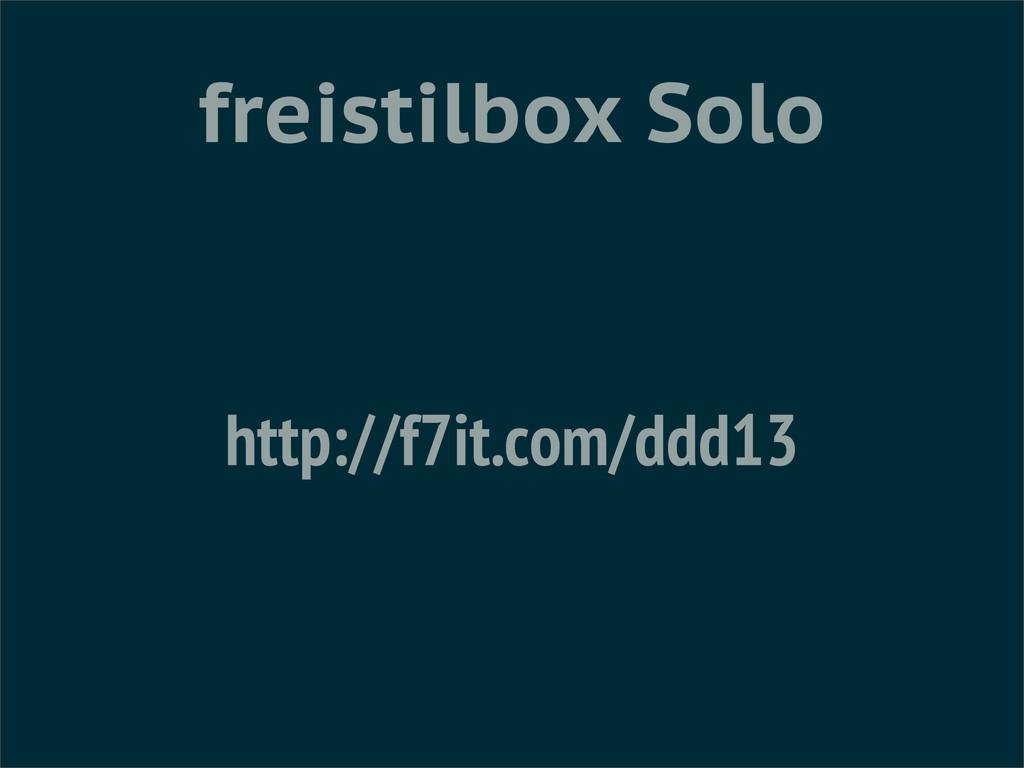 freistilbox Solo http://f7it.com/ddd13