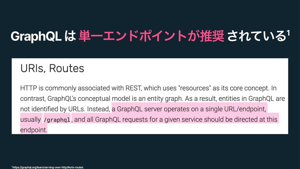 GraphQL  ୯ҰΤϯυϙΠϯτ͕ਪ ͞Ε͍ͯΔ1 1 https://graphql...