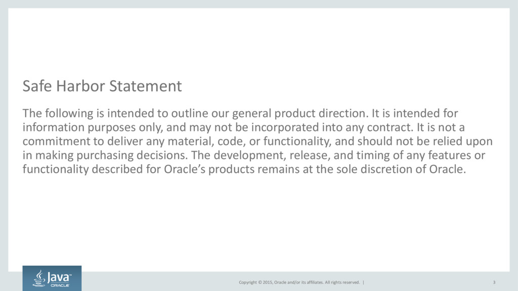 Copyright © 2015, Oracle and/or its affiliates....