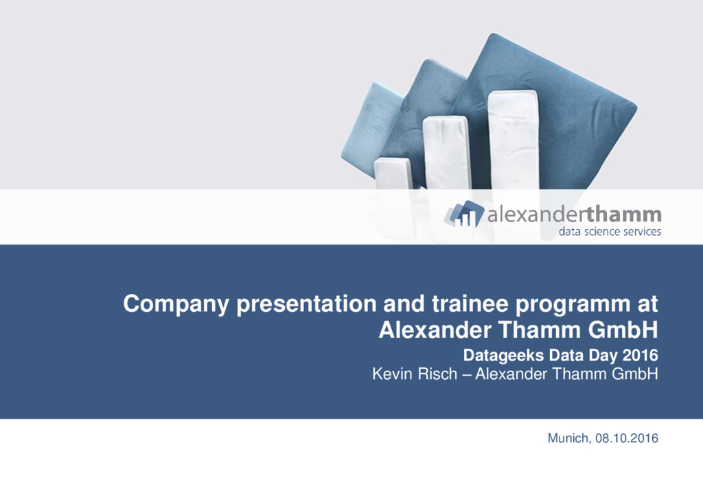 1 Company presentation and trainee programm at ...