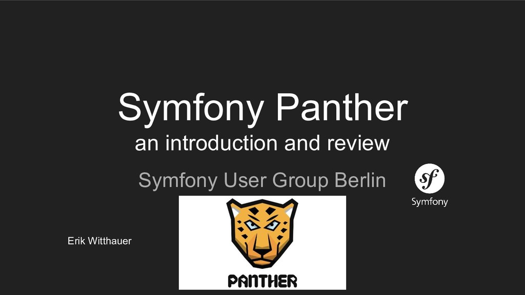 Symfony Panther an introduction and review Symf...