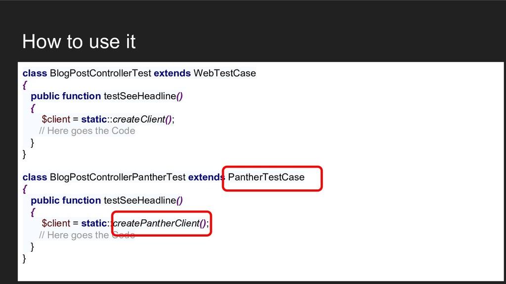 How to use it class BlogPostControllerTest exte...