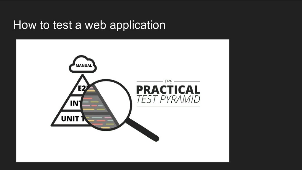How to test a web application