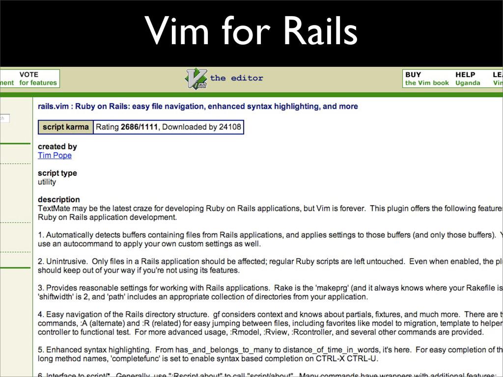 Vim for Rails