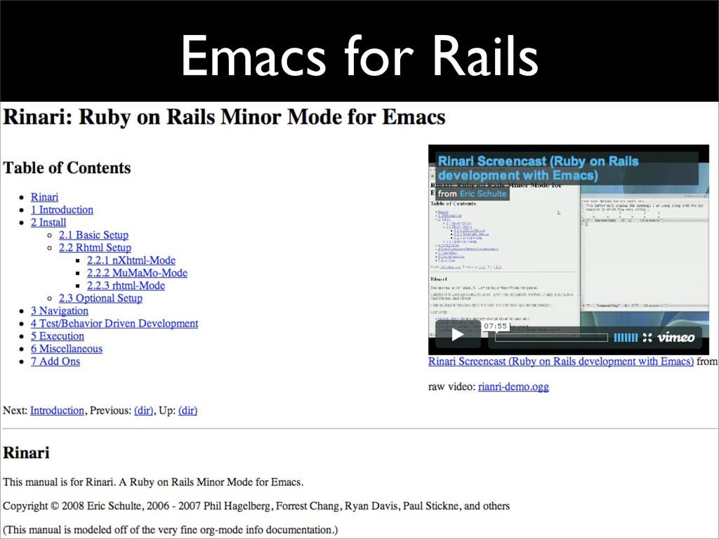 Emacs for Rails