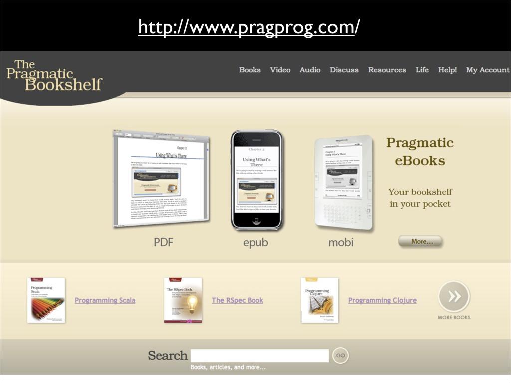 http://www.pragprog.com/