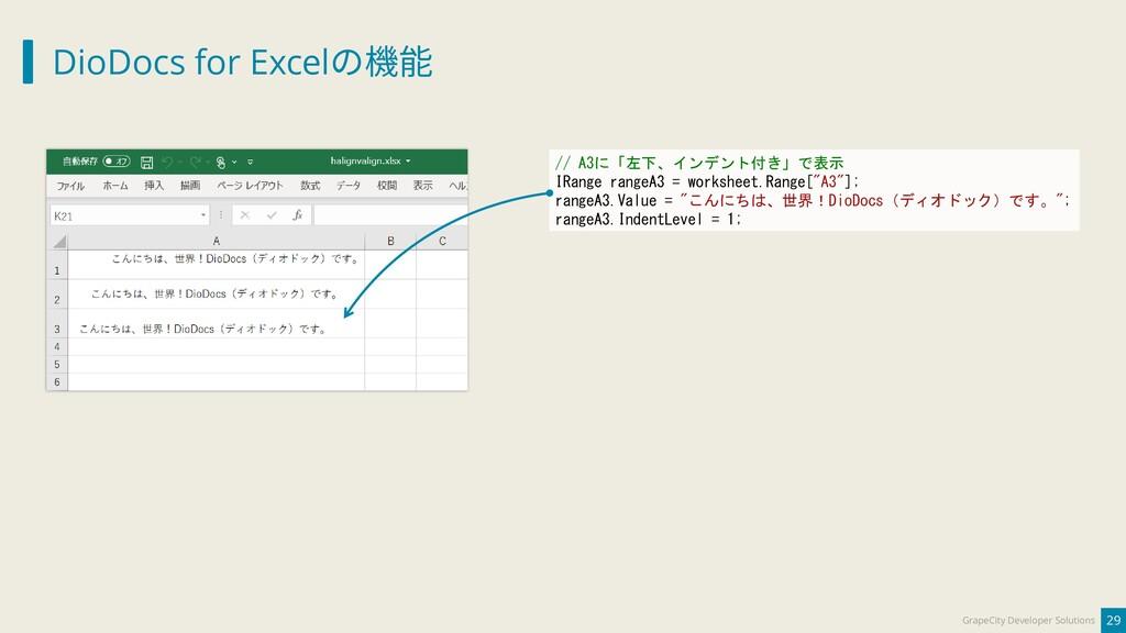 DioDocs for Excelの機能 29 GrapeCity Developer Sol...