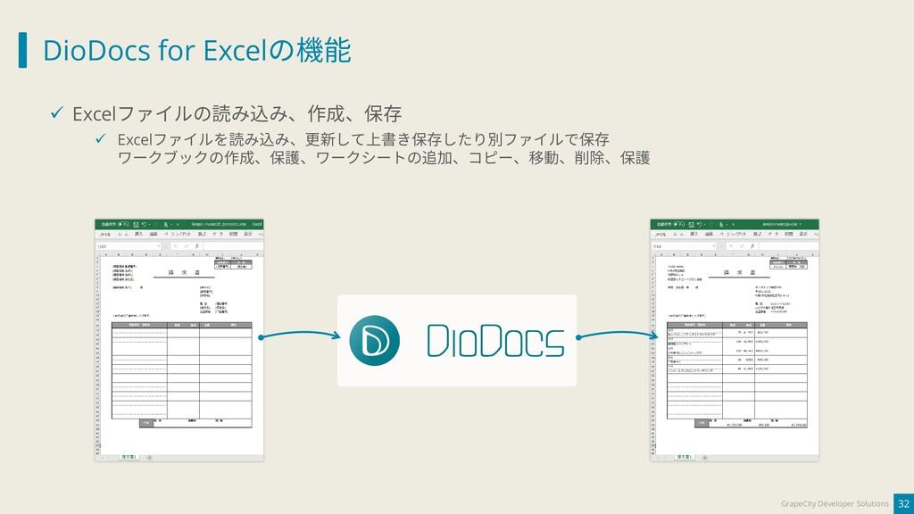 DioDocs for Excelの機能 32 GrapeCity Developer Sol...