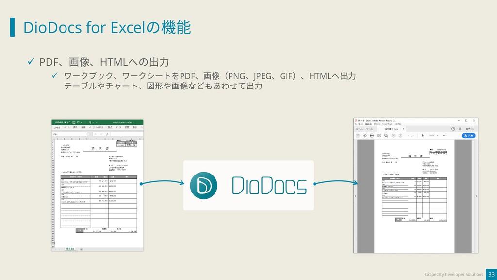 DioDocs for Excelの機能 33 GrapeCity Developer Sol...