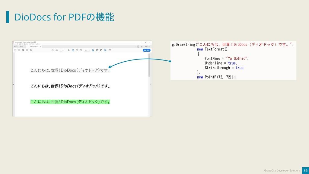 DioDocs for PDFの機能 36 GrapeCity Developer Solut...