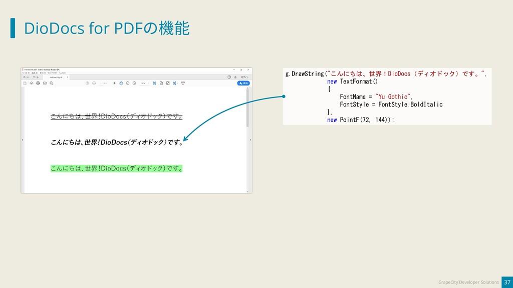 DioDocs for PDFの機能 37 GrapeCity Developer Solut...
