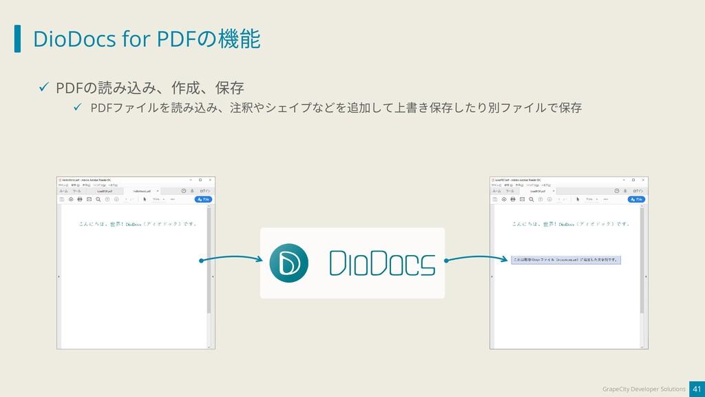DioDocs for PDFの機能 41 GrapeCity Developer Solut...