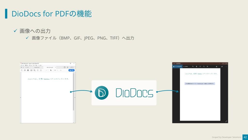 DioDocs for PDFの機能 42 GrapeCity Developer Solut...